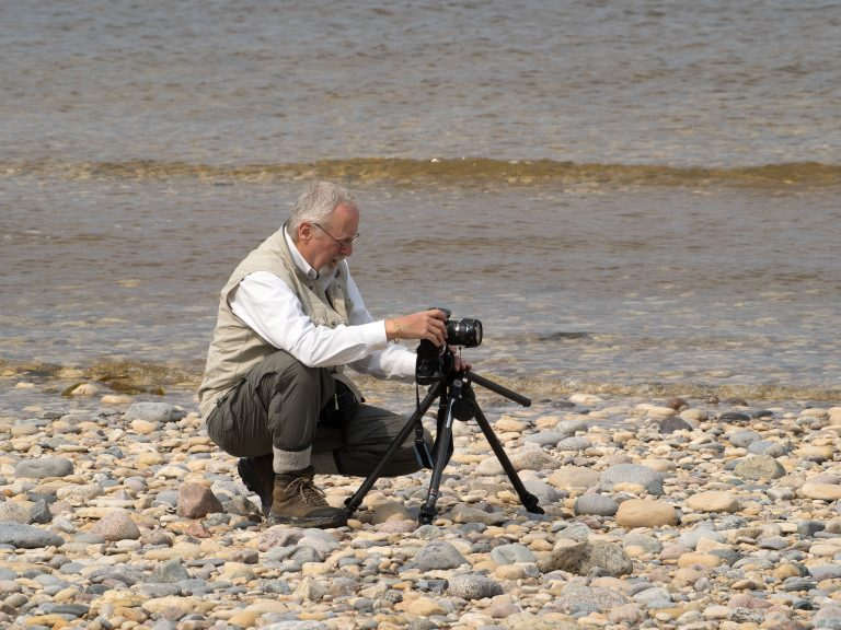 Jim on the shore of Hudson Bay on July 9, 2014. Photo by Walter Ezell.