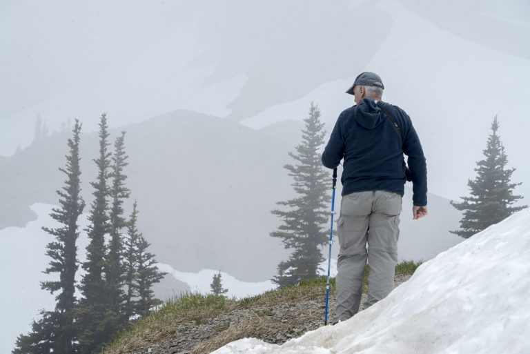 Jim in Olympic National Park on June 24, 2019. Photo by Walter Ezell.